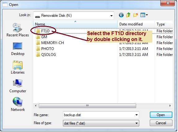 FT-1D Directory Listing