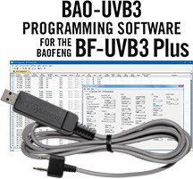 BAO-UVB3 Programming Software and USB-K4Y cable for the <br/>Baofeng BF-UVB3Plus
