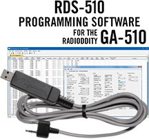 RDS-510 Programming Software and USB-K4Y cable for the Radioddity GA-510