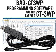 BAO-3WP Programming Software and USB-73 cable for the <br/>Baofeng GT-3WP