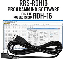 RRS-D16 Programming Software and USB-74 Cable for the Rugged Radios RDH-16U/16V