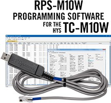 RPS-M10W Programming Software and USB-50 cable for the HYS TC-M10W