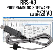 RRS-V3 Programming Software and USB-K4Y cable for Rugged Radio V3