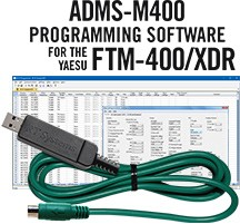 ADMS-M400 Programming Software and USB-77 cable for the Yaesu FTM-400 radio