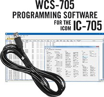 WCS-705 Programming Software and RT-49 cable for the Icom IC-705
