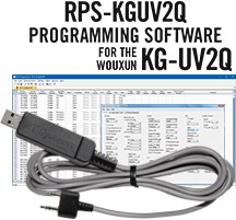 RPS-KGUV2Q Programming Software and USB-K4Y cable  for the Wouxun KG-UV2Q radio