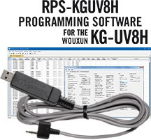 RPS-KGUV8H Programming Software and USB-K4Y cable  for the Wouxun KG-UV8H radio