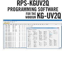 RPS-KGUV2Q Programming Software Only for the Wouxun KG-UV2Q radio