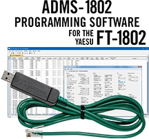 ADMS-1802 Programming Software and USB-29F cable for the Yaesu FT-1802