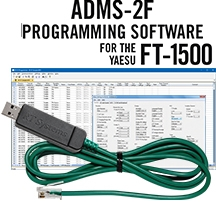 ADMS-2F Programming Software and USB-29F cable for the Yaesu FT-1500