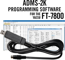 ADMS-2K Programming Software and USB-29B cable for the Yaesu FT-7800