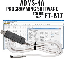 ADMS-4A Programming Software and USB-62 cable for the Yaesu FT-817