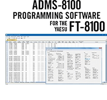 ADMS-8100 Programming Software only for the Yaesu FT-8100