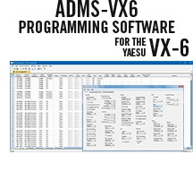 ADMS-VX6 Programming Software Only for the Yaesu VX-6
