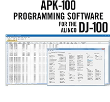 APK-100 Programming Software Only for the Alinco DJ-100