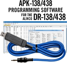 APK-138/438 Programming Software and USB-29A cable for the Alinco DR-138/438