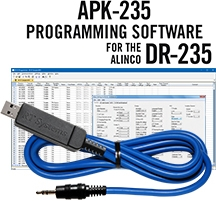 APK-235 Programming Software and USB-29A cable for the Alinco DR-235