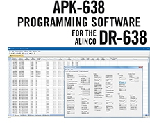 APK-638 Programming Software Only for the Alinco DR-638
