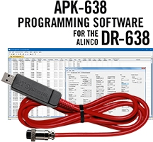 APK-638 Programming Software and USB-38 for the Alinco DR-638