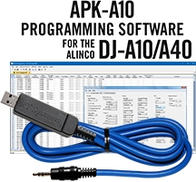 APK-A10/A40 Programming Software and USB-29A cable for the Alinco DJ-A10/A40