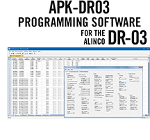 APK-DR03 Programming Software Only for the Alinco DR-03