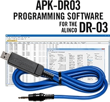 APK-DR03 Programming Software and USB-29A cable for the Alinco DR-03