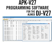 APK-V27 Programming Software Only for the Alinco DJ-V27