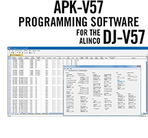 APK-V57 Programming Software Only for the Alinco DJ-V57