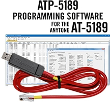 ATP-5189 Programming Software and USB-A5R cable for the AnyTone AT-5189