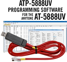 ATP-5888UV Programming Software and USB-A5R cable for the AnyTone AT-5888UV
