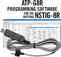 ATP-G8R Programming Software and USB-K4Y cable for the AnyTone NSTIG-8R