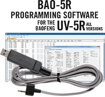 BAO-5R Programming Software and USB-K4Y cable for the <br/>Baofeng/Pofung UV-5R and UV-5RA