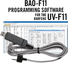 BAO-F11 Programming Software and USB-K4Y cable for the <br/>Baofeng/Pofung UV-F11