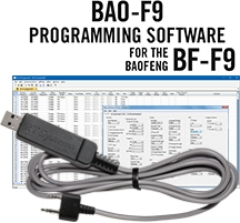 BAO-F9 Programming Software and USB-K4Y cable for the <br/>Baofeng/Pofung BF-F9