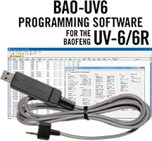 BAO-UV6 Programming Software and USB-K4Y cable for the Baofeng/Pofung UV-6 and UV-6R