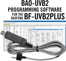 BAO-UVB2 Programming Software and USB-K4Y cable for the Baofeng/Pofung BF-UVB2Plus