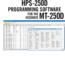 HPS-250D Programming Software only for the Hensenate MT-250D radio