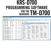 KRS-D700 Programming Software Only for the Kenwood TM-D700