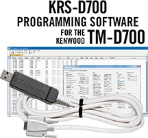 KRS-D700 Programming Software and USB-63 for the Kenwood TM-D700