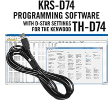 KRS-D74 Programming Software and RT-49 cable for the Kenwood TH-D74