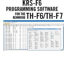 KRS-F6 Programming Software Only for the Kenwood TH-F6/TH-F7