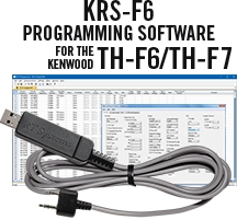KRS-F6 Programming Software and USB-K4Y for the Kenwood TH-F6/TH-F7