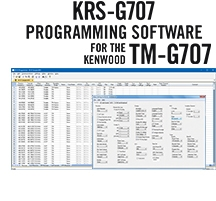 KRS-G707 Programming Software Only for the Kenwood TM-G707
