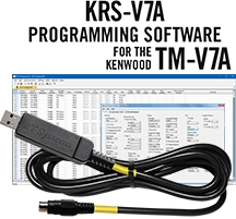 KRS-V7A Programming Software and USB-K4S for the Kenwood TM-V7A
