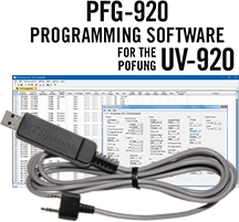 PFG-920 Programming Software and USB-K4Y cable for the <br/>Baofeng/Pofung UV-920