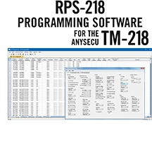 RPS-218 Programming Software Only for the TM-218