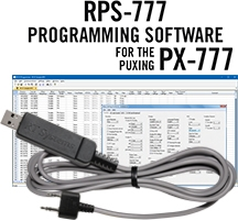 RPS-777 Programming Software and USB-K4Y for the Puxing PX-777