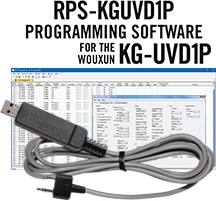 RPS-KGUVD1P Programming Software and USB-K4Y cable for the Wouxun KG-UVD1P
