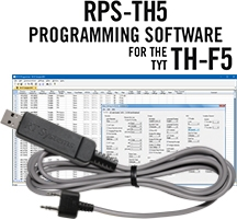 RPS-TH5 Programming Software and USB-K4Y cable for the TYT TH-F5