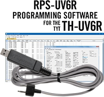 RPS-UV6R Programming Software and USB-K4Y cable for the TYT TH-UV6R